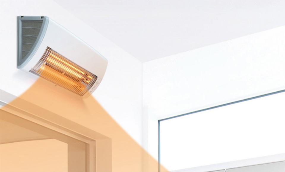 壁掛け型遠赤外線暖房機 展示中!